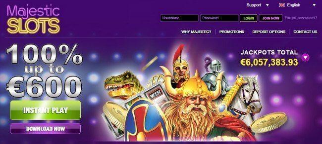 Majestic slots casino : Meilleur casino en ligne français RTG