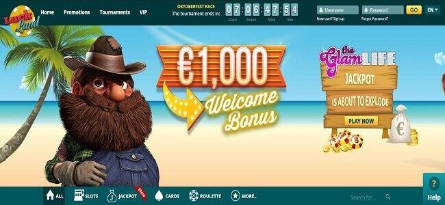 Paiements et options bancaires sur Luckland casino