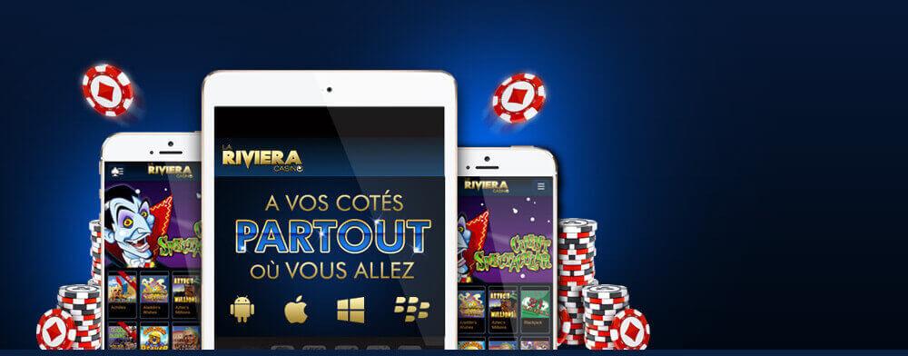 Logiciel et jeux en ligne disponibles sur La Riviera casino