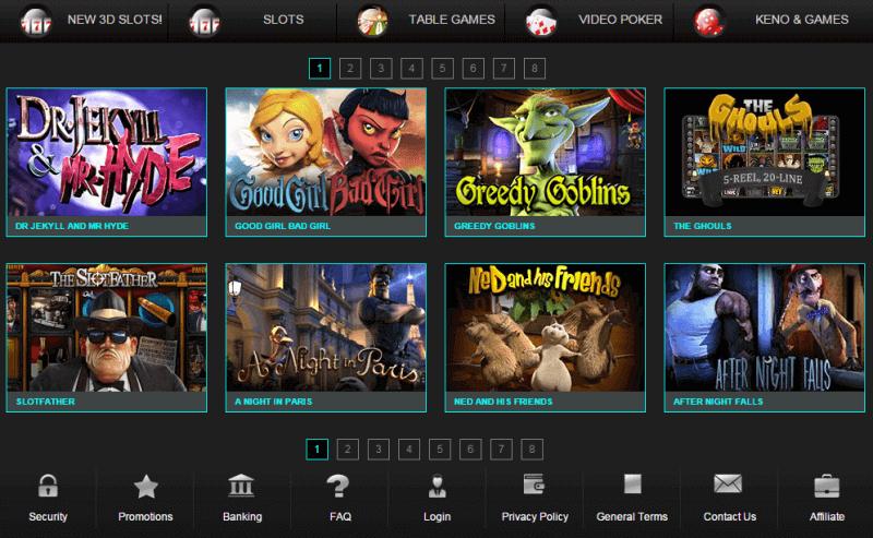 Logiciel et jeux offerts dans Gorilla casino