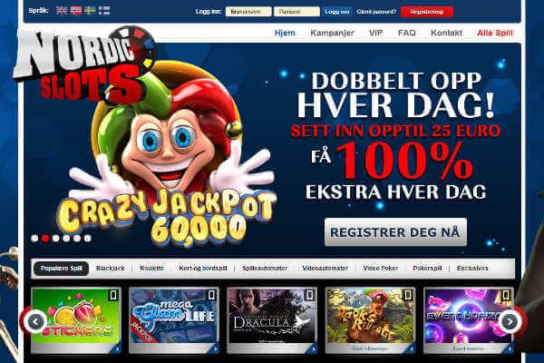 Bonus et promotions disponibles sur Nordic Slots