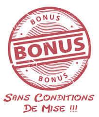 Avantages du bonus de bienvenue