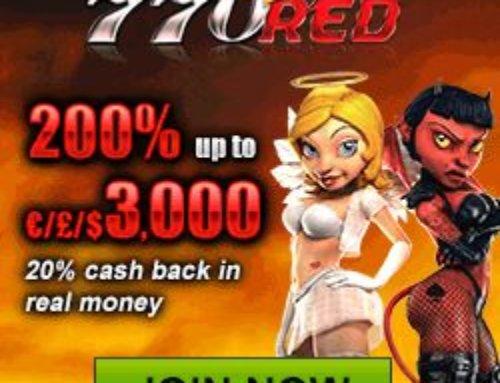 770Red : bonus gratuit de 200% à hauteur de 3000€ en France