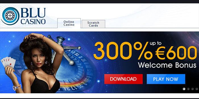 Casino Blu : Recevez 300% de bonus gratuit sur votre premier dépôt
