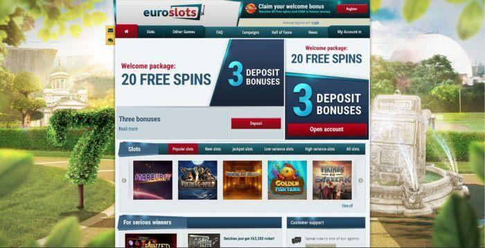 Logiciel de jeu gratuit et jeux de casino populaires sur EuroSlots casino