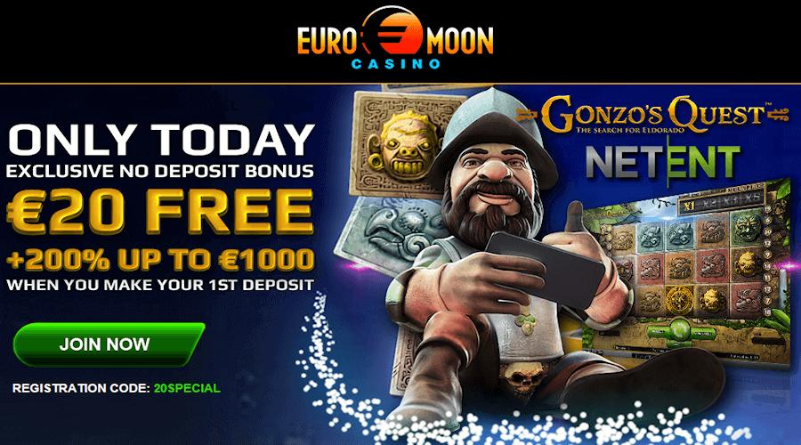 EuroMoon casino : Casino en ligne sans depot et sans téléchargement