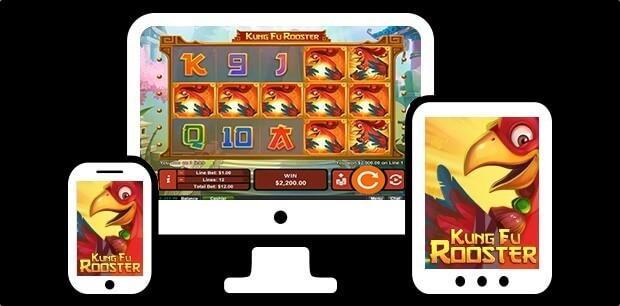 Bonus en ligne gratuit et fonctionnalités sur la machine à sous Kung Fu Rooster