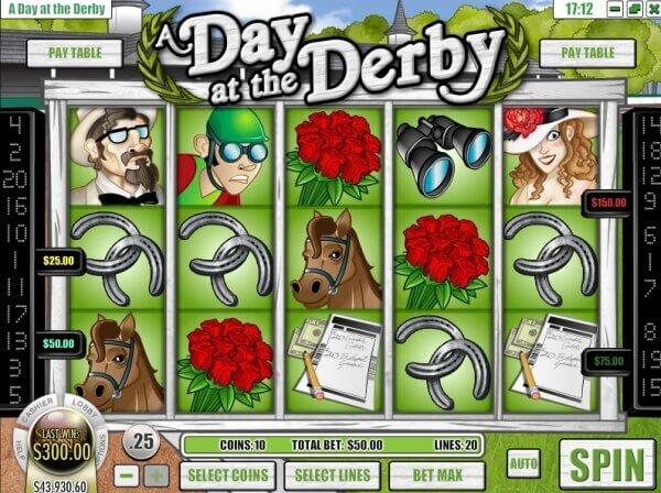 Bonus gratuits et mises en ligne sur A Day At The Derby