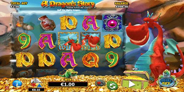 Fonctionnalités bonus et symboles gagnants sur la machine à sous A Dragon Story
