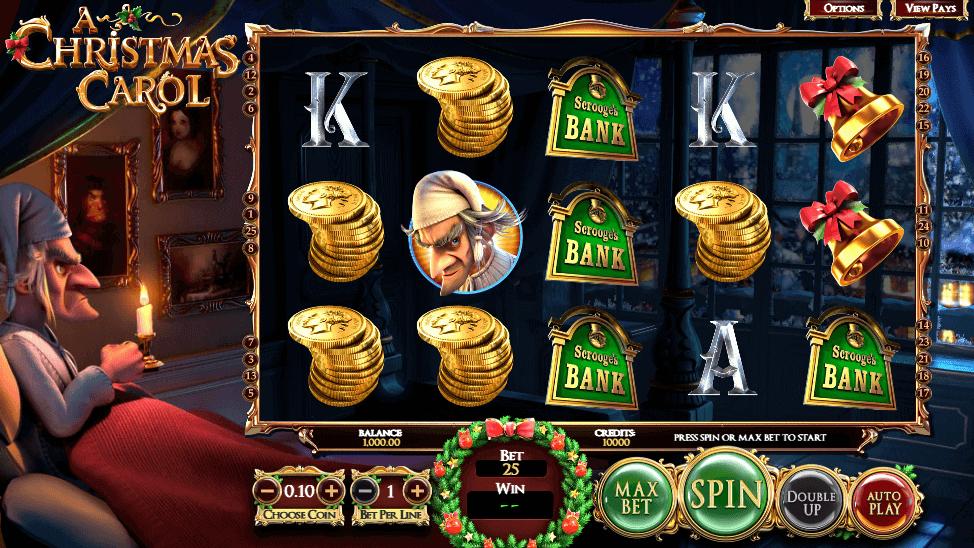 Fonctionnalités bonus et symboles gagnants sur le slot A Christmas Carol