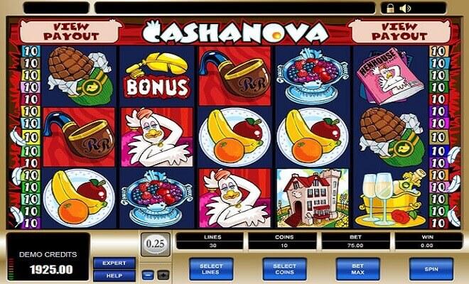 Jouez sur Cashanova gratuit et sans téléchargement en France