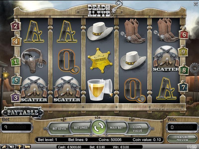 Jouez sur le slot en ligne Dead or Alive dans le casino français