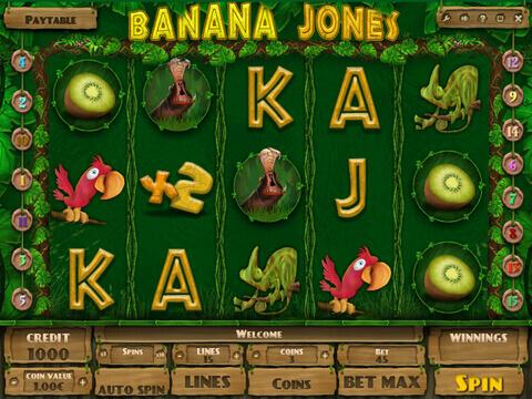 Banana Jones : jouez en ligne sans dépôt et sans téléchargement
