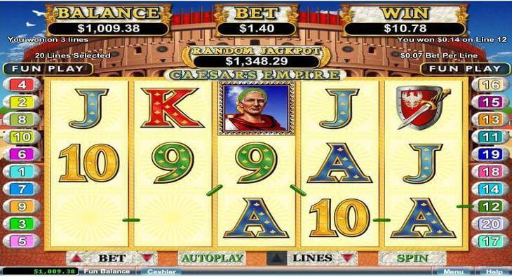 Jouez sur la machine à sous Caesars Empire dans le casino en ligne français RTG