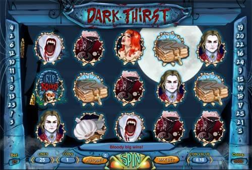Jouez sur le slot en ligne Dark Thirst sans dépôt et sans téléchargement