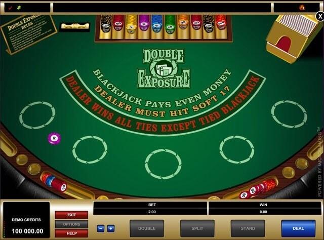 Jouez au blackjack double exposure dans les casinos français gratuits