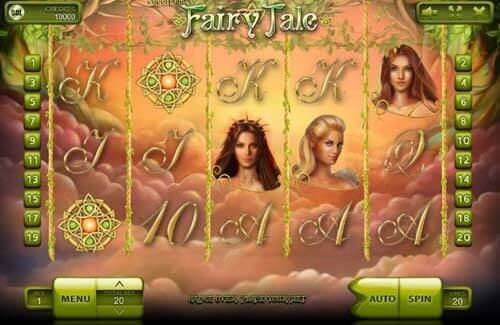 Symboles et fonctionnalités sur la machine à sous Fairy Tale