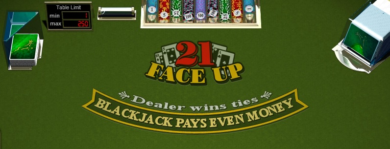 Jouez sur Face up 21 blackjack gratuit en France